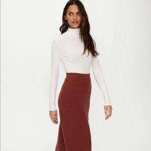 NWT Aritzia Babaton Johan tan wool skirt - large